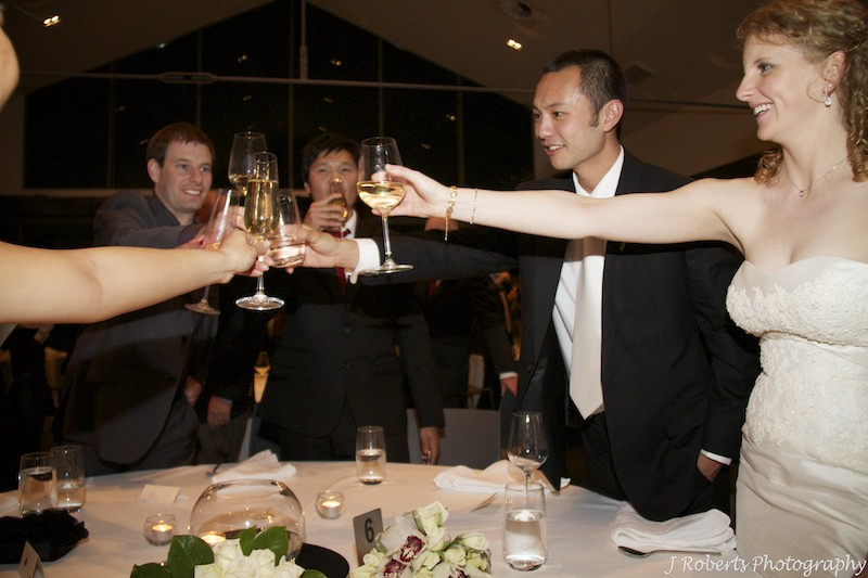 Toast to the bridal party - wedding photography sydney