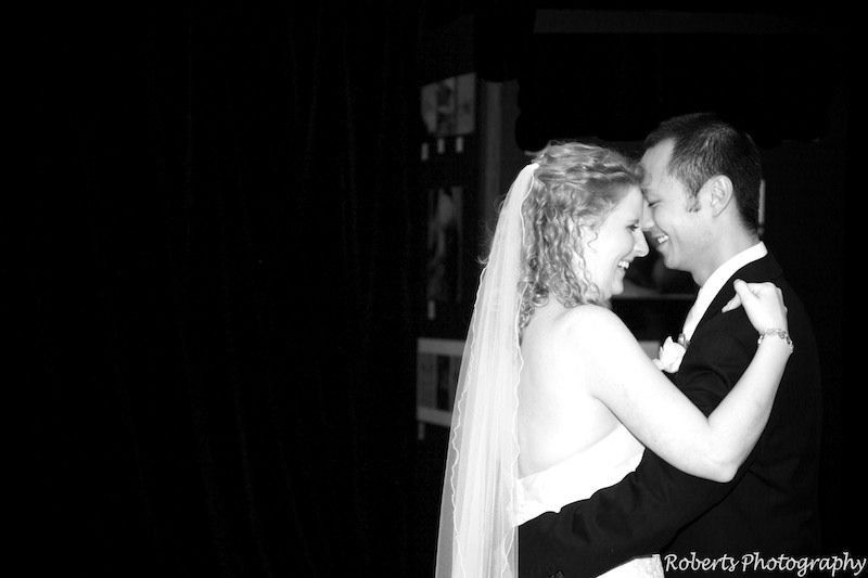 B&W bridal waltz - wedding photography sydney