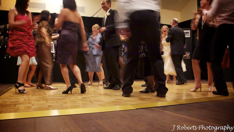 Dancefloor at wedding - wedding photography sydney