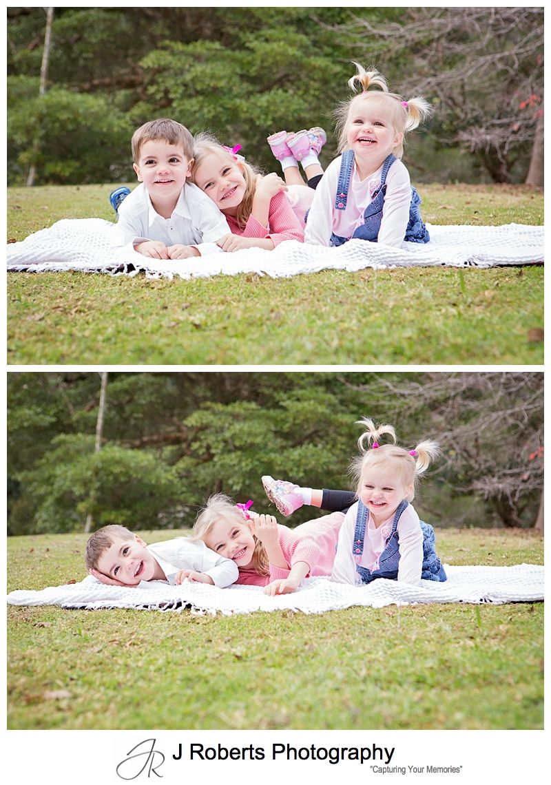Winter Family Portrait Photos Sydney Echo Point Park Roseville Fun Family Photos Sydney